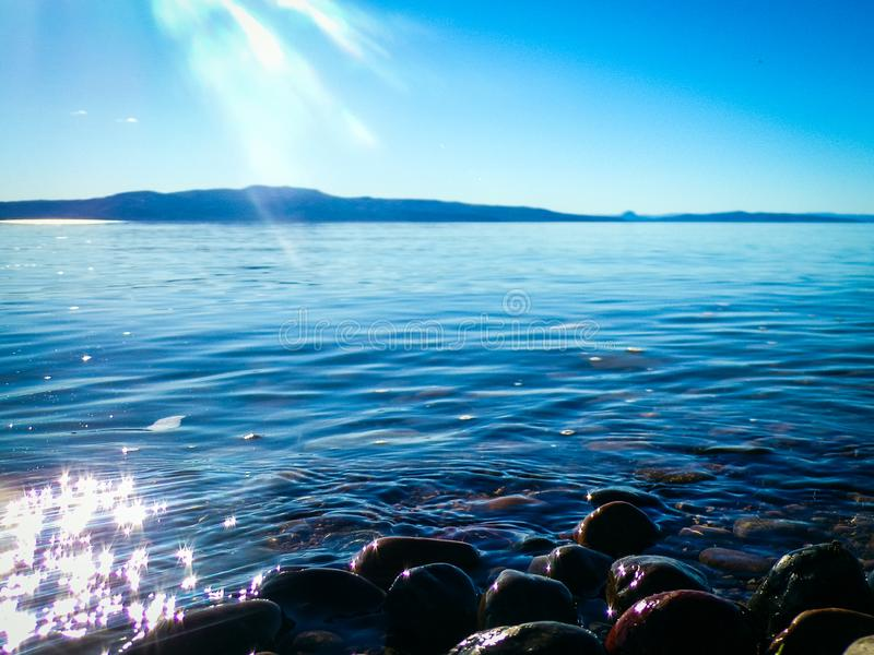 Lac Chubut musters image stock