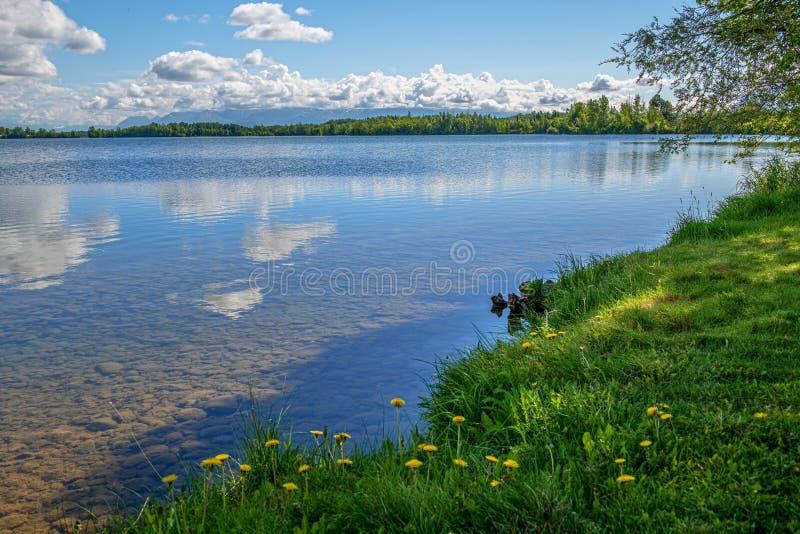 Lac Clear Wasilla image stock