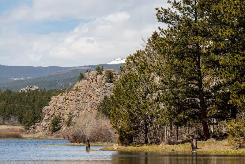 Lac colorado Rocky Mountain photo stock