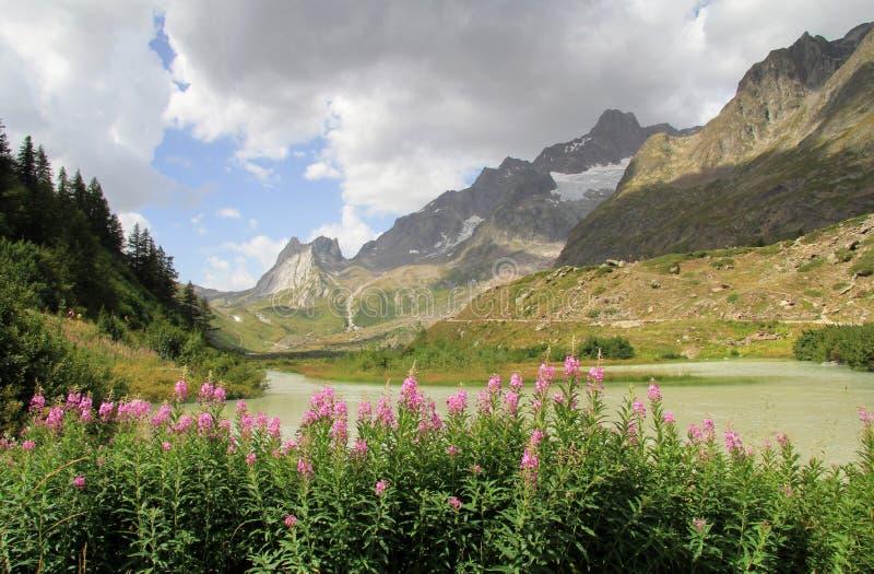 Lac Combal avec de la La Seine du fléau De photographie stock libre de droits