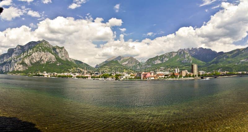 Lac Como, Lecco, Italie image libre de droits