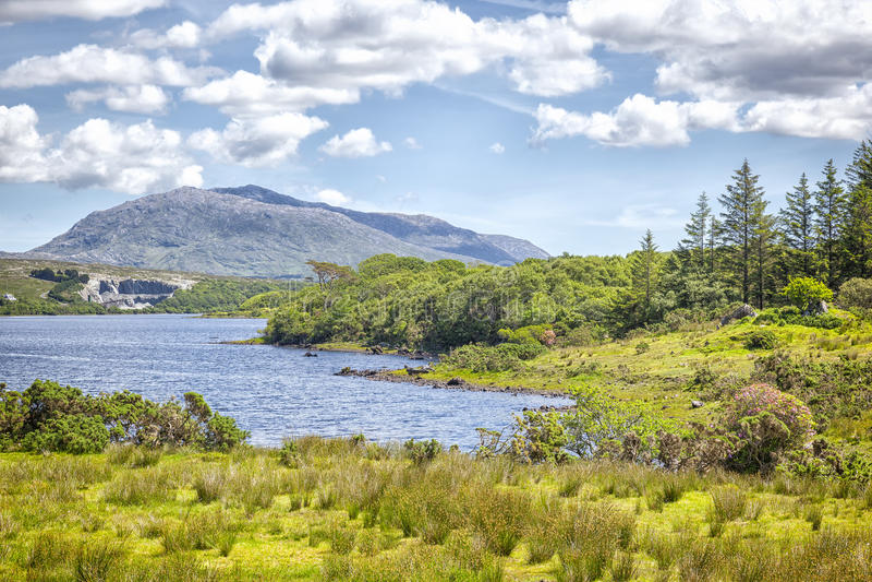 Lac Corrib Irlande image libre de droits