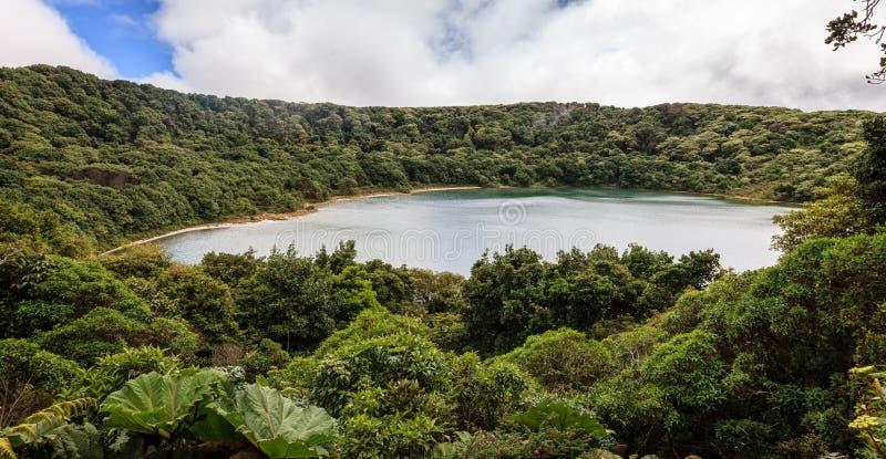 Lac crater de volcan de Poas image libre de droits