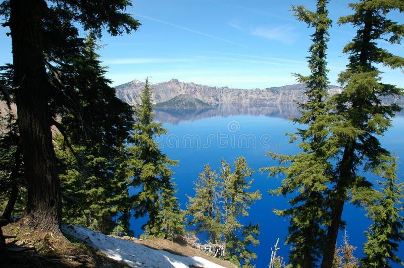 Lac crater, Orégon images libres de droits