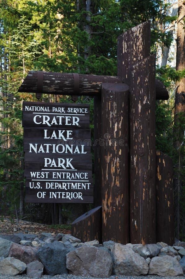 Lac crater, Orégon, Etats-Unis image libre de droits