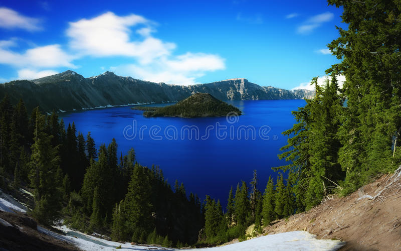 Lac crater, Orégon sur Sunny Day photo stock