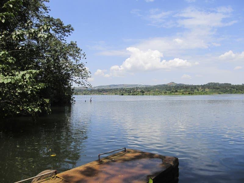 Lac d'Africain de paysage photographie stock