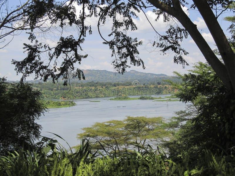 Lac d'Africain de paysage image libre de droits