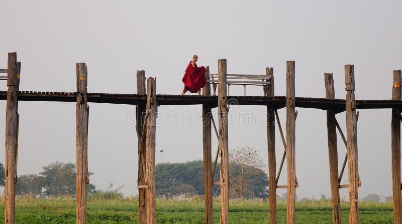 Lac dans Amarapura, Mandalay photos stock