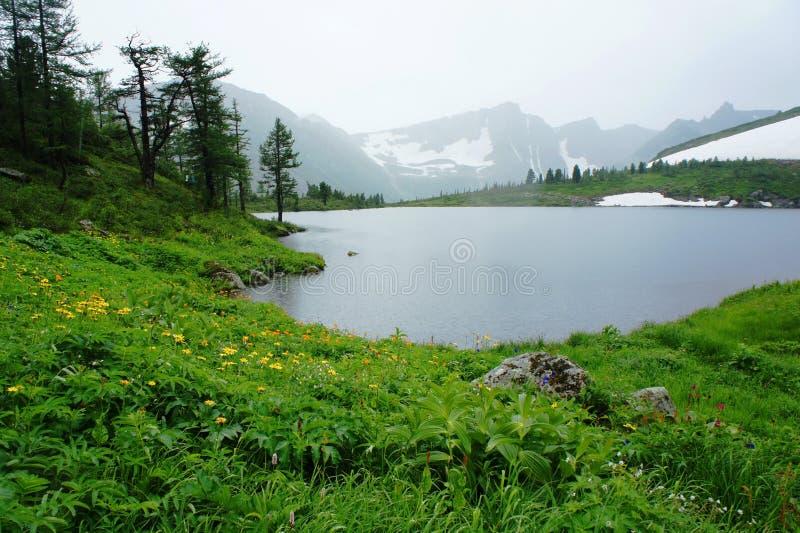 Lac dans la vallée image libre de droits