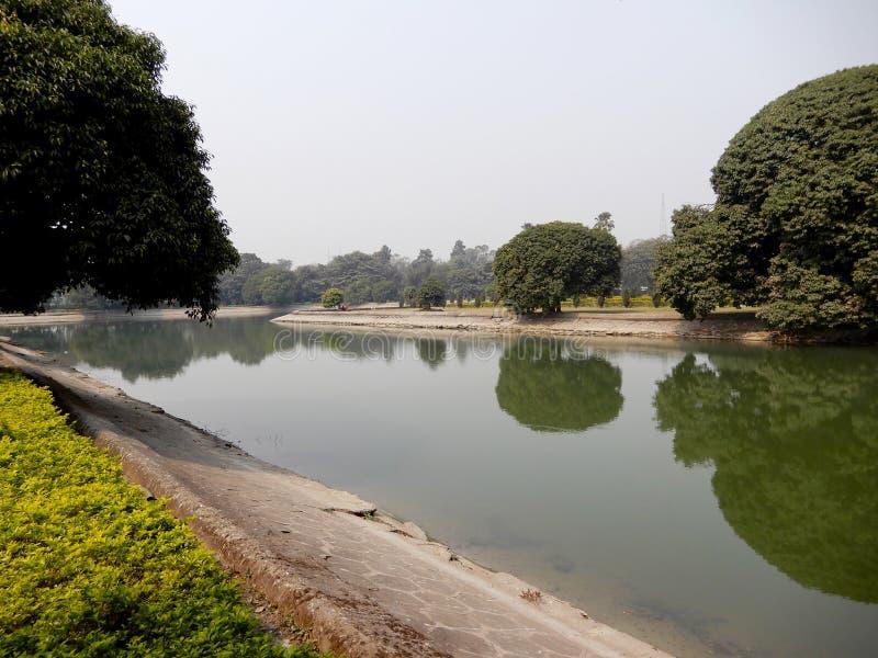 Lac dans le jardin images libres de droits