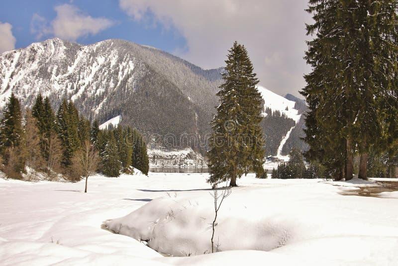 Lac dans les Alpes images stock