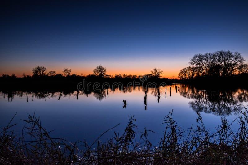 Lac dans les Frances photos stock