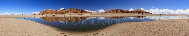 Lac dans Nam Co, Thibet photographie stock libre de droits