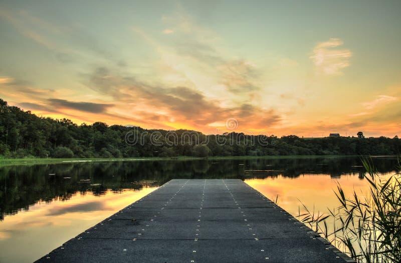 Lac de Brantry images libres de droits