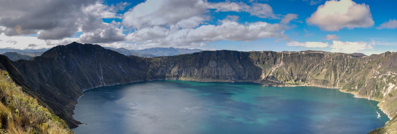 Lac de cratère de Quilotoa, Equateur photo libre de droits