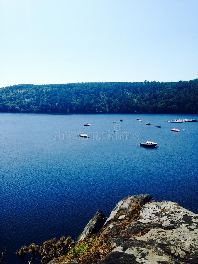Lac De Guerledan,法国 免版税库存图片
