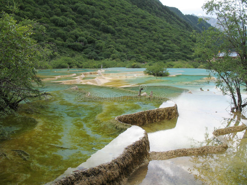 lac de huanglong photos stock
