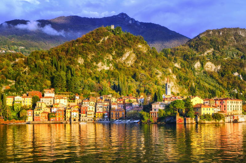 lac de l'Italie de como photographie stock libre de droits