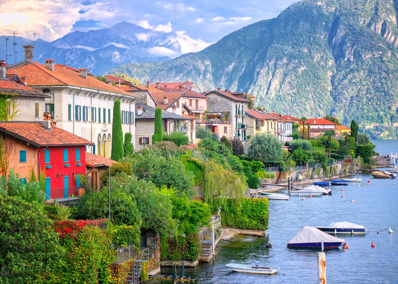 lac de l'Italie de como photos libres de droits