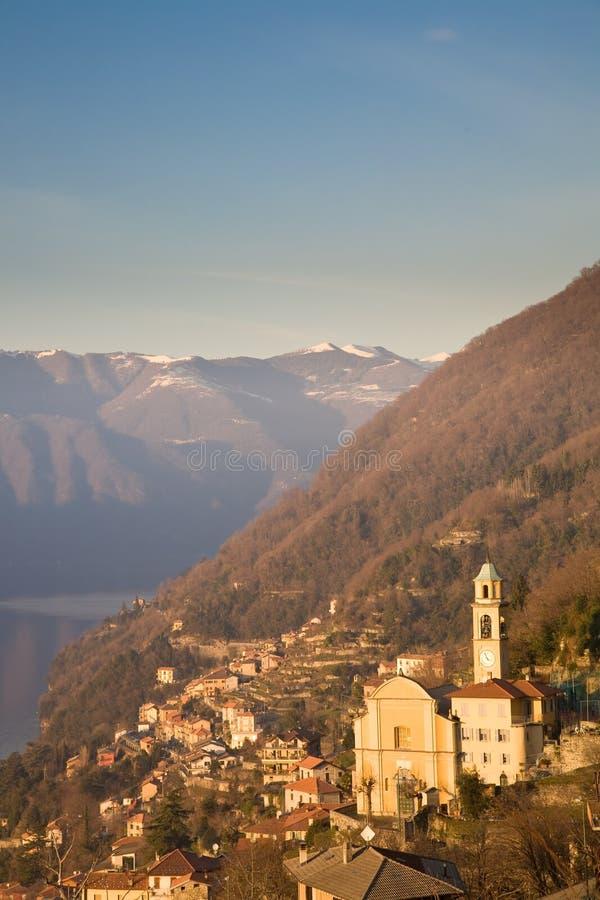 lac de l'Italie de como images libres de droits