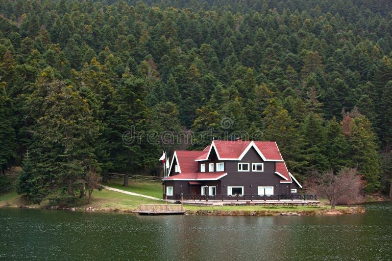 Download Lac de maison image stock. Image du forêt, fond, horizontal - 8669163