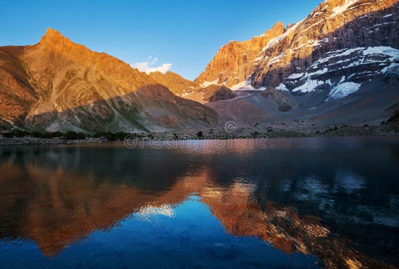 Lac de montagnes de Fann image libre de droits