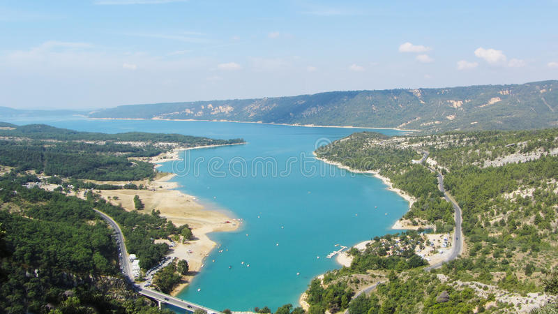 Lac de Sainte-Croix, Gorges du Verdon, France images libres de droits