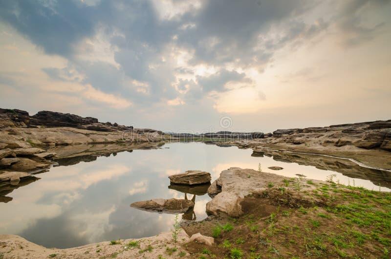 Lac de sampanbok photographie stock