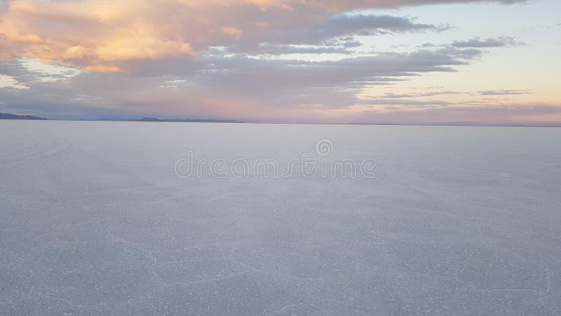 Lac de sel of Bonneville, utah royalty free stock photos