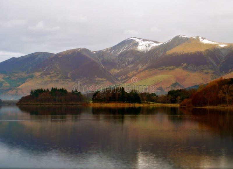 Lac Derwent en hiver photo stock