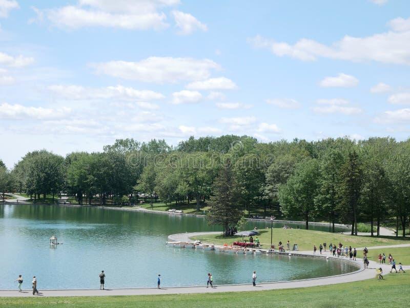 Lac des castors na królewskim, Montreal, Quebec, Kanada fotografia stock