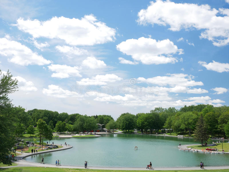 Lac des castors na królewskim, Montreal, Quebec, Kanada zdjęcia stock