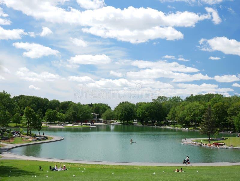 Lac des castors na królewskim, Montreal, Quebec, Kanada fotografia royalty free