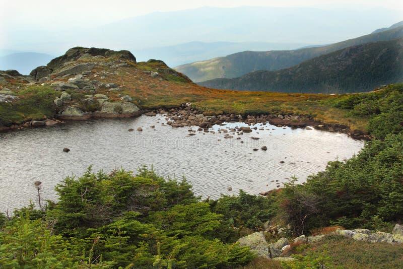Lac des nuages sur le Mt Washington, New Hampshire photos stock