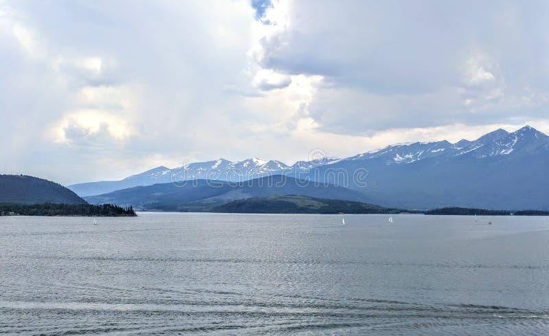 Lac Dillon dans le Colorado photographie stock libre de droits