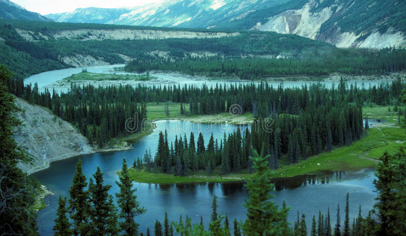 Lac en fer à cheval en Alaska photographie stock libre de droits