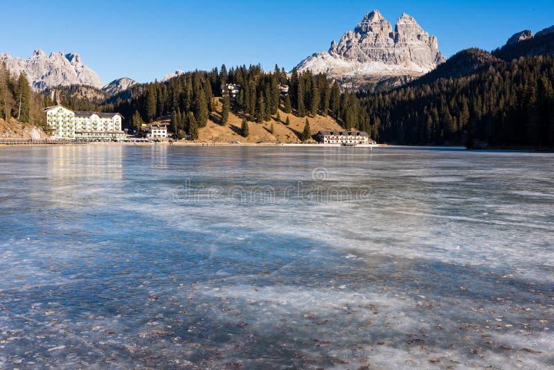 Lac en Italie images libres de droits