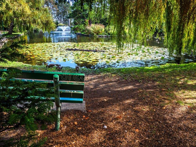Lac en parc public de Beacon Hill, de Victoria Canada AVANT JÉSUS CHRIST photos libres de droits