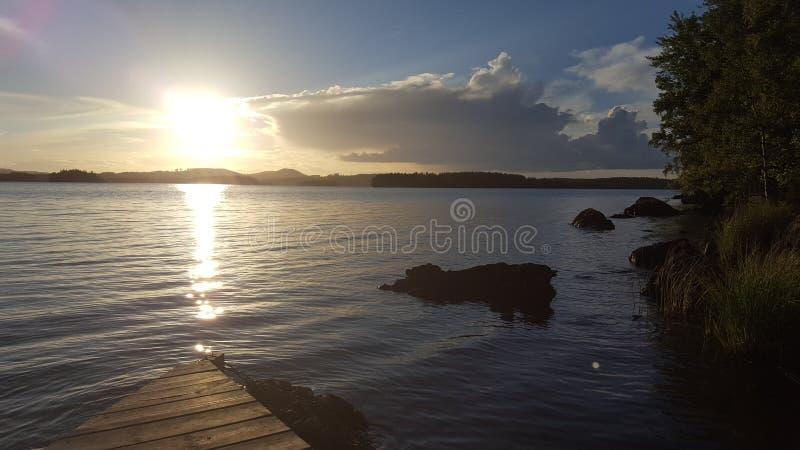 Lac en Suède images libres de droits
