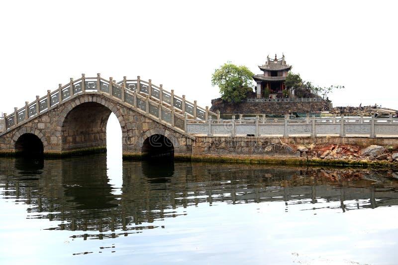 Lac Erhai à Dali City Yunnan, porcelaine photographie stock libre de droits