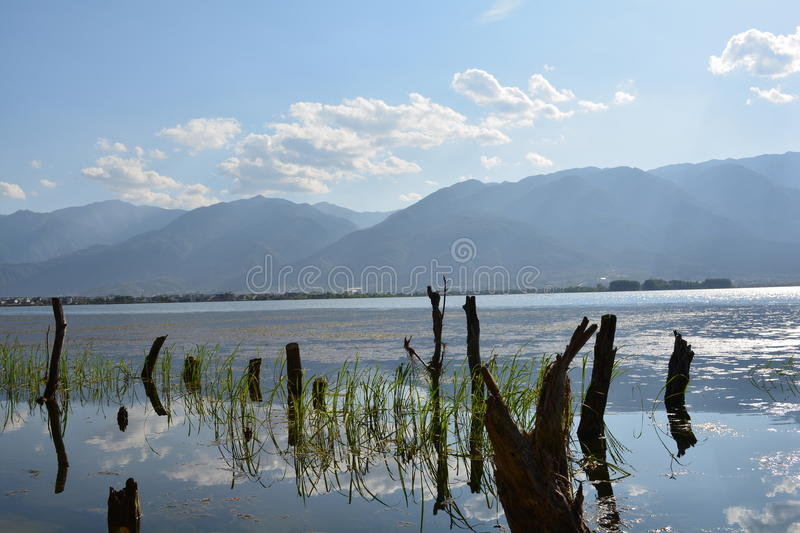 Lac Erhai photo stock