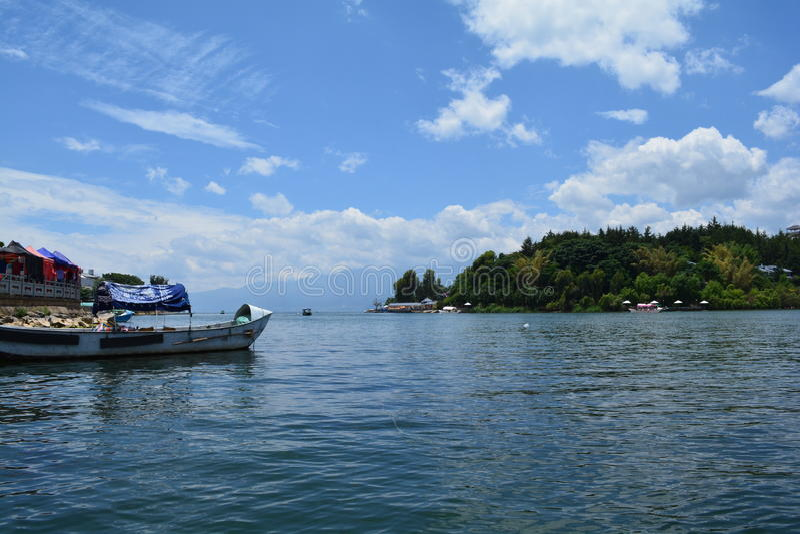 Lac Erhai image stock