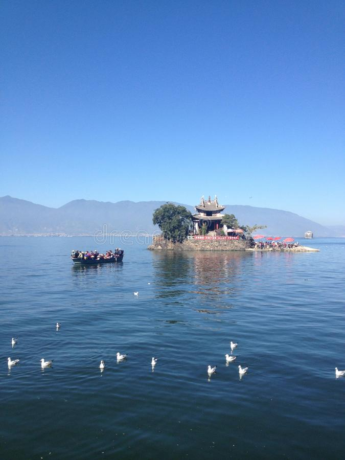 Lac Erhai photo stock