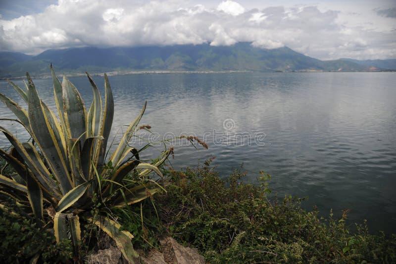 Lac Erhai dans Yunnan, Chine photographie stock libre de droits