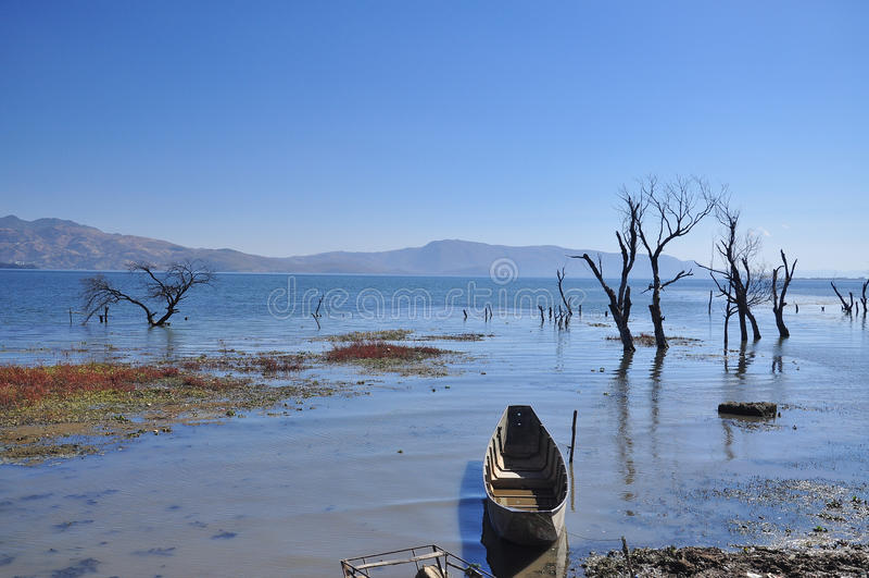 Lac Erhai, province de Yunnan, Chine. photos libres de droits