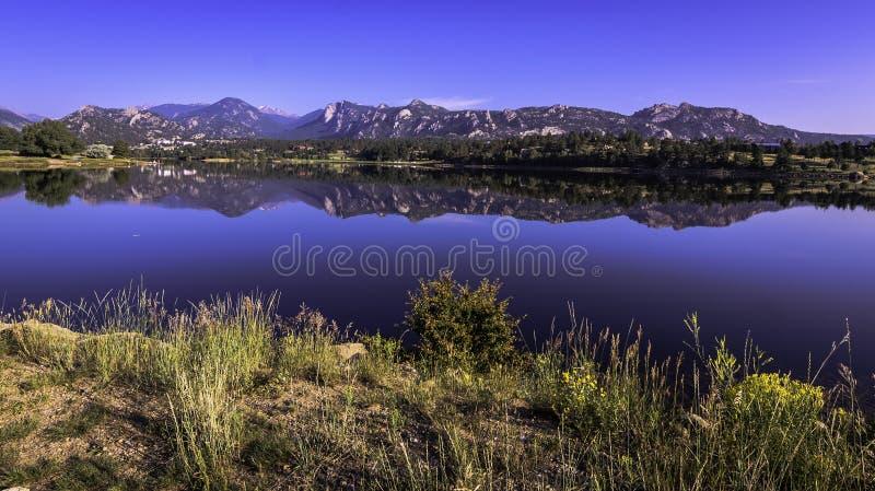 Lac Estes Colorado image libre de droits
