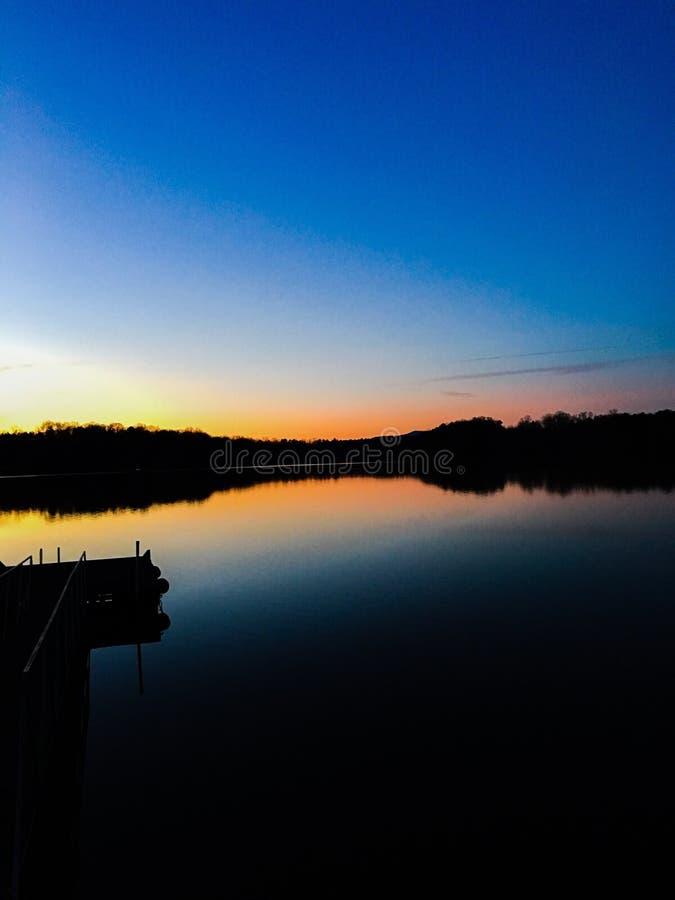 Lac evening images libres de droits