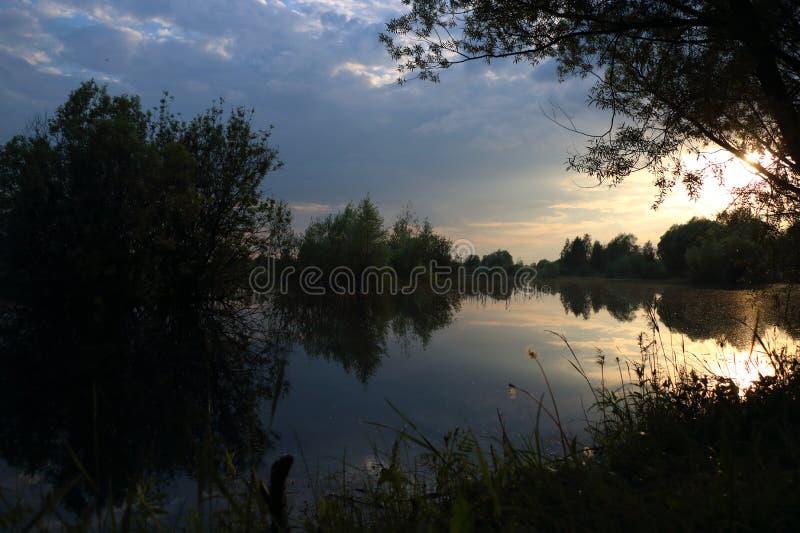 Lac evening image libre de droits