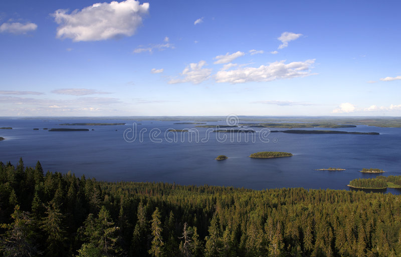Lac finlandais image libre de droits
